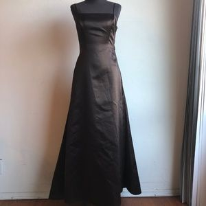 BCBG Brown Backless Gown